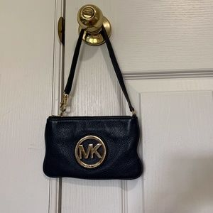 Michael Kors navy blue small wallet wristlet